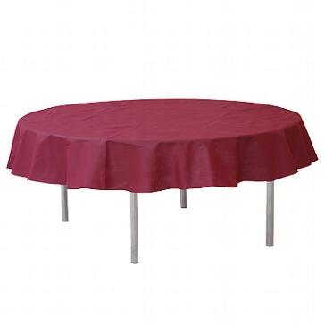 Tischdecke Vlies rund in bordeaux