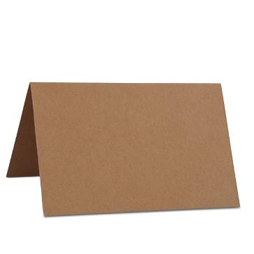 Tischkarte aus Kraftpapier zur Hochzeit
