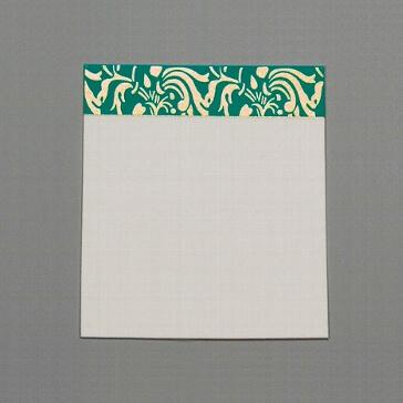 Tischkarte Kashmira, türkis