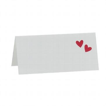 """Tischkarten """"Gaby"""" mit roten Herzchen für Ihre Hochzeit"""