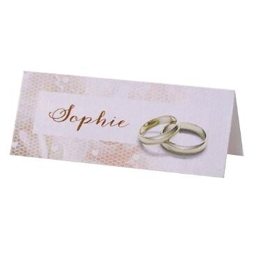 Tischkarten Kylie für die Hochzeit in zartem Rosa