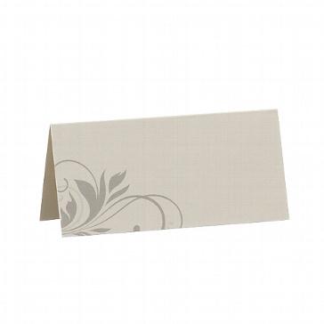 Tischkarte Julie - graue Tischkarten