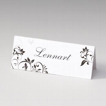"""Tischkarte """"Lavina"""" für die Hochzeitsfeier"""