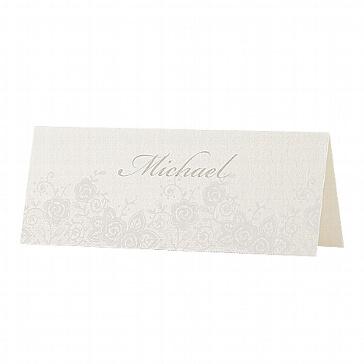 Tischkarten Louise - Rosenmotiv zur Hochzeit