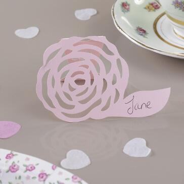 Tischkarte Rose