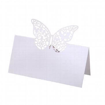 Tischkarten Schmetterling zur Hochzeit