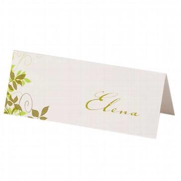 Tischkarte Sylvia zur Hochzeit