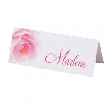 """Tischkarten """"Tanja"""" - Tischkärtchen mit Rosenmotiv für die Hochzeit"""