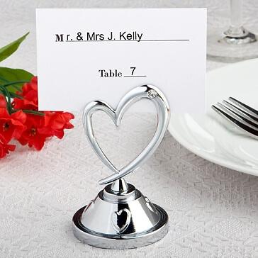 """Tischkartenhalter """"Herz"""" in Silber"""
