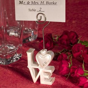 Tischkartenhalter Hochzeit Love, weiß