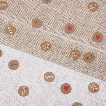 Tischkonfetti im Kraftpapier-Look