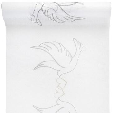 """Tischläufer """"Taubenpaar"""", 5 m - Tischläifer mit Taubenpaar-Motiv"""
