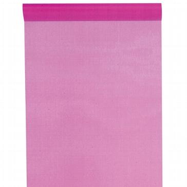 Organza-Tischläufer in Pink für die Hochzeit