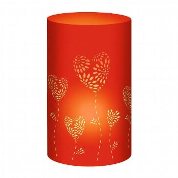 Tischlichter Herzblumen, rot, 5 St.- rotes Tischlicht