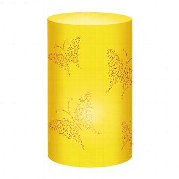 """Tischlichter """"Schmetterling"""", gelb, 5 St. - gelbes Tischlicht"""