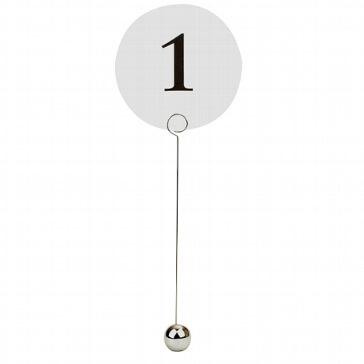 Tischnummernhalter Silberne Kugel
