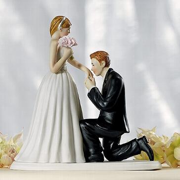 Figur für die Hochzeitstorte