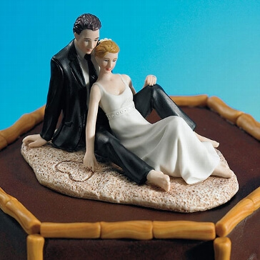 Tortenfigur Hochzeit am Strand