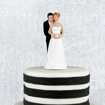 Tortenfigur Hochzeit Babyglück mit schwangerer Braut