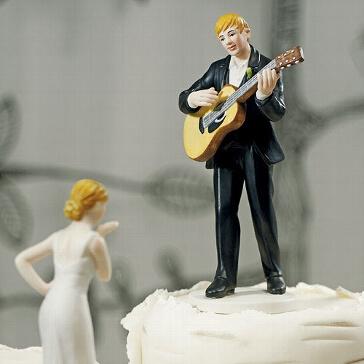 Tortenfigur Liebeslied für Ihre Hochzeit