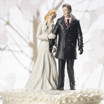 """Tortenfigur """"Winter Wonderland"""" - für Ihre Hochzeitstorte"""