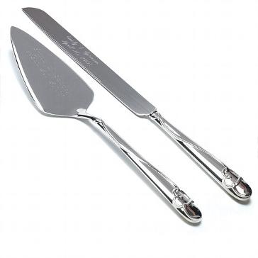 Tortenheber und Messer-Set, elegant