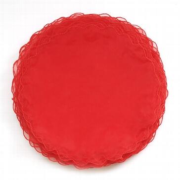 Tüllkreise für Gastgeschenke in Rot
