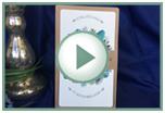 Einladungskarte Namika aus Kraftpapier mit goldenen Akzenten