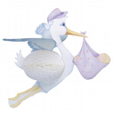 Wabenballfigur Storch