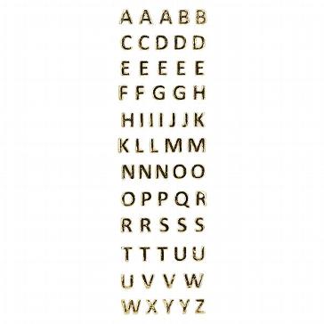 Wachsbuchstaben, gold zum Verzieren von Hochzeitskerzen