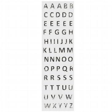 Wachsbuchstaben in silber