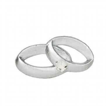 Wachsornamente Eheringe in Silber für Hochzeitskerzen