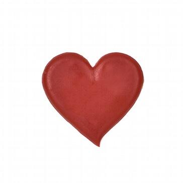 Wachsornament in Herzform zur Verzierung von Hochzeitskerzen und Stumpenkerzen