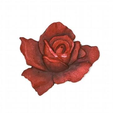 Wachsornament Rose für Hochzeitskerzen und Kerzenstumpen