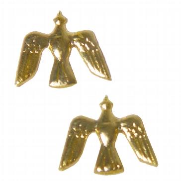 "Wachsornament ""Tauben"" gold"