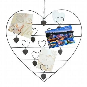 Wanddeko Herz Clips für Fotos - für die Hochzeit