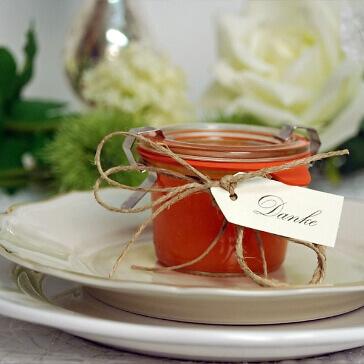 Einweckglas für Gastgeschenke zur Hochzeit