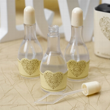 Wedding Bubbles Ornamentherz, creme-gold