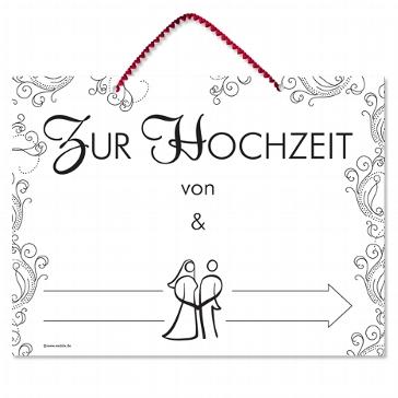 """Wegweiser """"Zur Hochzeit"""""""