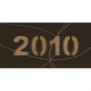 """Weihnachtskarte """"2010"""", braun"""