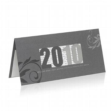 """Weihnachtskarte """"2010-silber"""""""