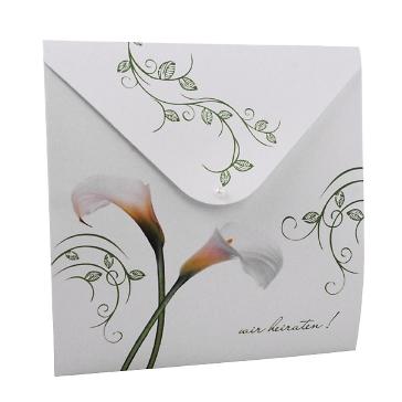 Hochzeitseinladung White Calla pocket
