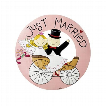 "Willkommensschild ""Just Married"""