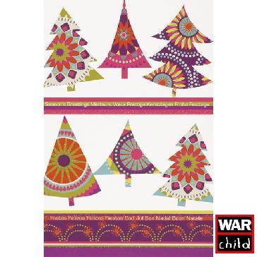 """Weihnachtskarte """"Bunte Bäume"""" - moderne Weihnachtskarte"""
