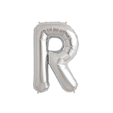 XXL Folienballon Buchstabe R, silber