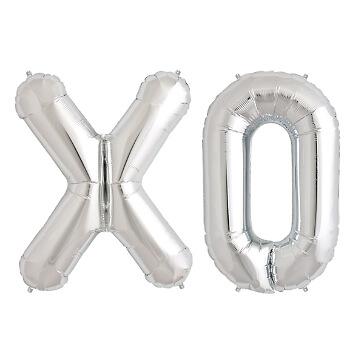 XXL Folienballon Buchstabenset XO, silber