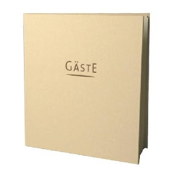 """Gästebuch Hochzeit """"York"""" - beiges Gästebuch"""