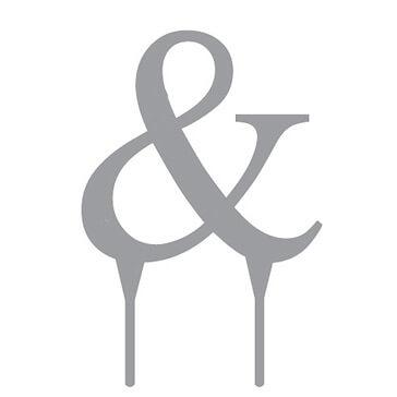 """Tortenfigur Monogramm """"&"""""""