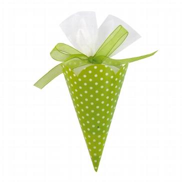 """Zuckertüte """"Polka Dots"""" grün 6 St. - für Gastgeschenke für Hochzeiten"""