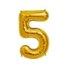 "Folienballon ""5"" in gold"